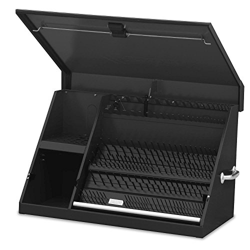 (Montezuma – XL450B – 36-Inch Portable TRIANGLE Toolbox – Multi-Tier Design – 16-Gauge Construction – SAE and Metric Tool Chest – Weather-Resistant Toolbox – Lock and Latching System)