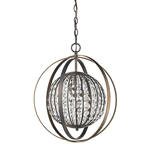 Acclaim Lighting IN11095ORB Olivia Indoor 1-Light Pendant with Crystal, Oil Rubbed - 1 Light Olivia