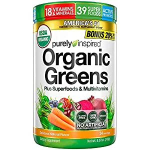 Gut Health Shop 51h3rLOp0FL._SS300_ Greens Powder Smoothie Mix | Purely Inspired Organic Greens Powder Superfood | Super Greens Powder Organic | Fruit…