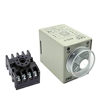 Woljay AH3-3 Time Delay Timer Relay Solid State DC 12V 8 ... on