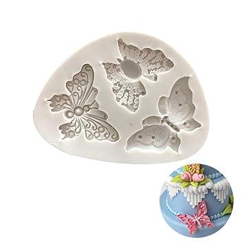 Moldes de Silicona para Repostería - Forma de Mariposa - 3D Molde De Silicona Para Magdalenas