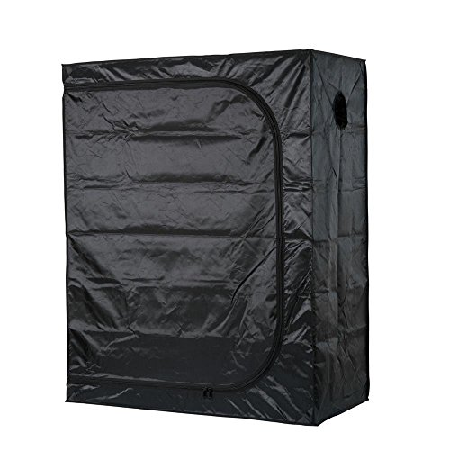 Growtent Garden Grow Tent for Indoor Plant Growing 600D with Removable Floor Tray (48''x24''x60'') … by Growtent Garden