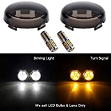 Best Glide Signal Mirrors - NTHREEAUTO Turn Signal Lights Smoke Lens w/ LED Review