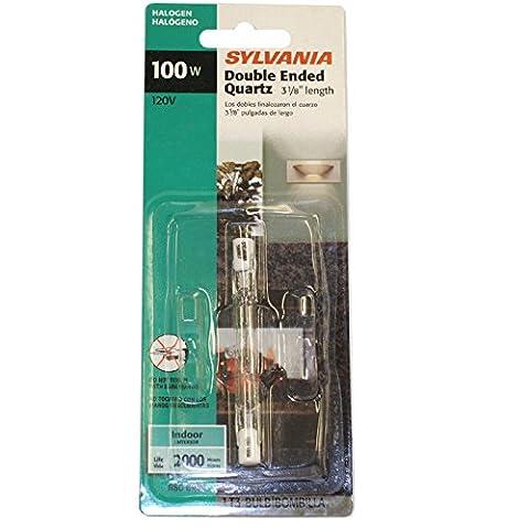 Sylvania 58887 100-Watt 120-Volt Tungsten Halogen Double-Ended T3 Quartz Lamp with Clear Finish - 100w 100' Cord