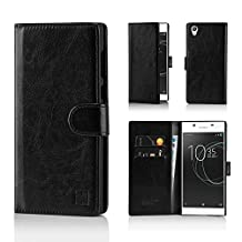 Sony Xperia X (2016) Premium PU Leather Book Wallet Style Case Cover by 32nd - Black