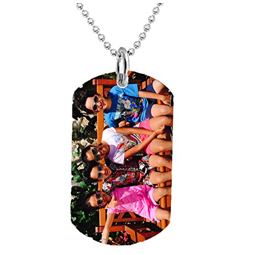 - Hat Shark Personalized Custom Customized Photo Text Color 3D Printed Dog Tag Necklace Pendant 24 inch with Stainless Steel Chain