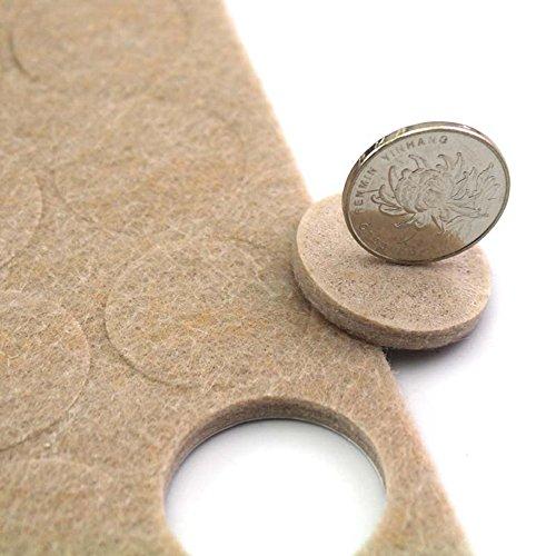 Simplewoo Round Self Adhesive Furniture Felt Pads For Hardwood Floors Table Chair  Leg Floor Protectors 16