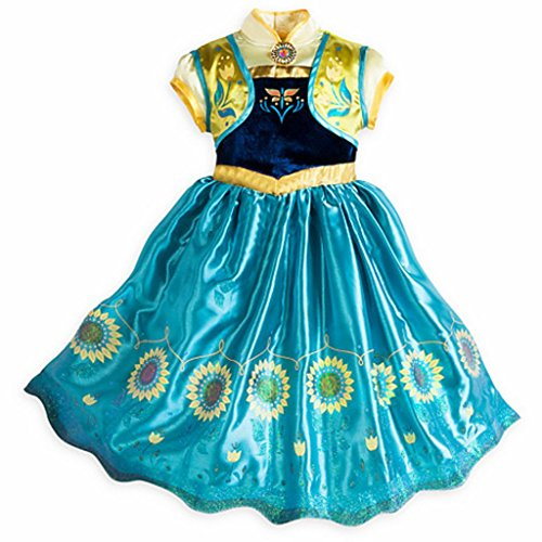 [DreamHigh Girls Princess Birthday Party Cosplay Costume Sunflower Dress 3T, 3years, Blue] (Little Girl Pageant Costumes)