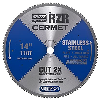 Image of Champion Cutting Tool Corp Circular Saw Blade 114', 110T (RZR-14-110-ST)-Cut Stainless Home Improvements