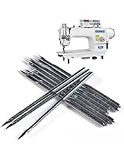Lakobos Heavy Duty Sewing Machine Needles, Round Top, Universal Regular Point for Singer, Brother, Janome, Varmax (DB - Sliver - 10 Pcs)