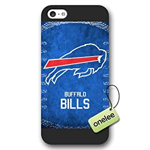 MEIMEIPersonalize NFL Buffalo Bills Team Logo Frosted iphone 4/4s Black Case Cover - BlackMEIMEI