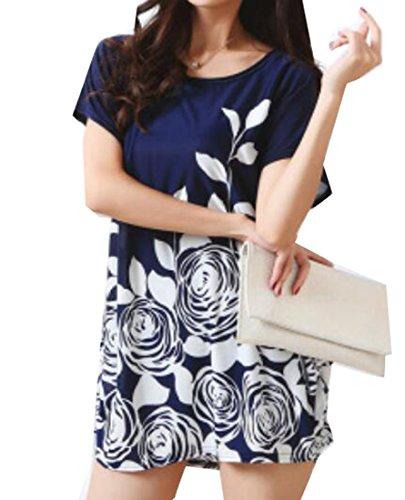 Jaycargogo Des Femmes De L'été À Manches Courtes Coupe Ample Mini-robe De Base 3