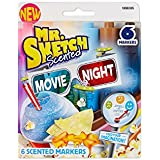 Mr. Sketch Scented Watercolor Markers, Chisel-Tip, Set of 6, Movie Night Colors (1898305)