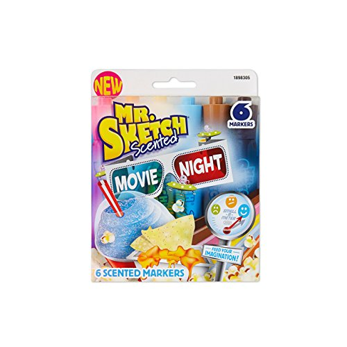 Mr. Sketch 1898305 Scented Markers, Chisel-Tip, Movie Night Colors, - Night Sketch