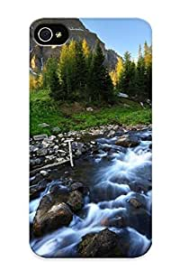 Premium Tpu Picturesque Mountain Stream Cover Skin Series For Iphone 4/4s