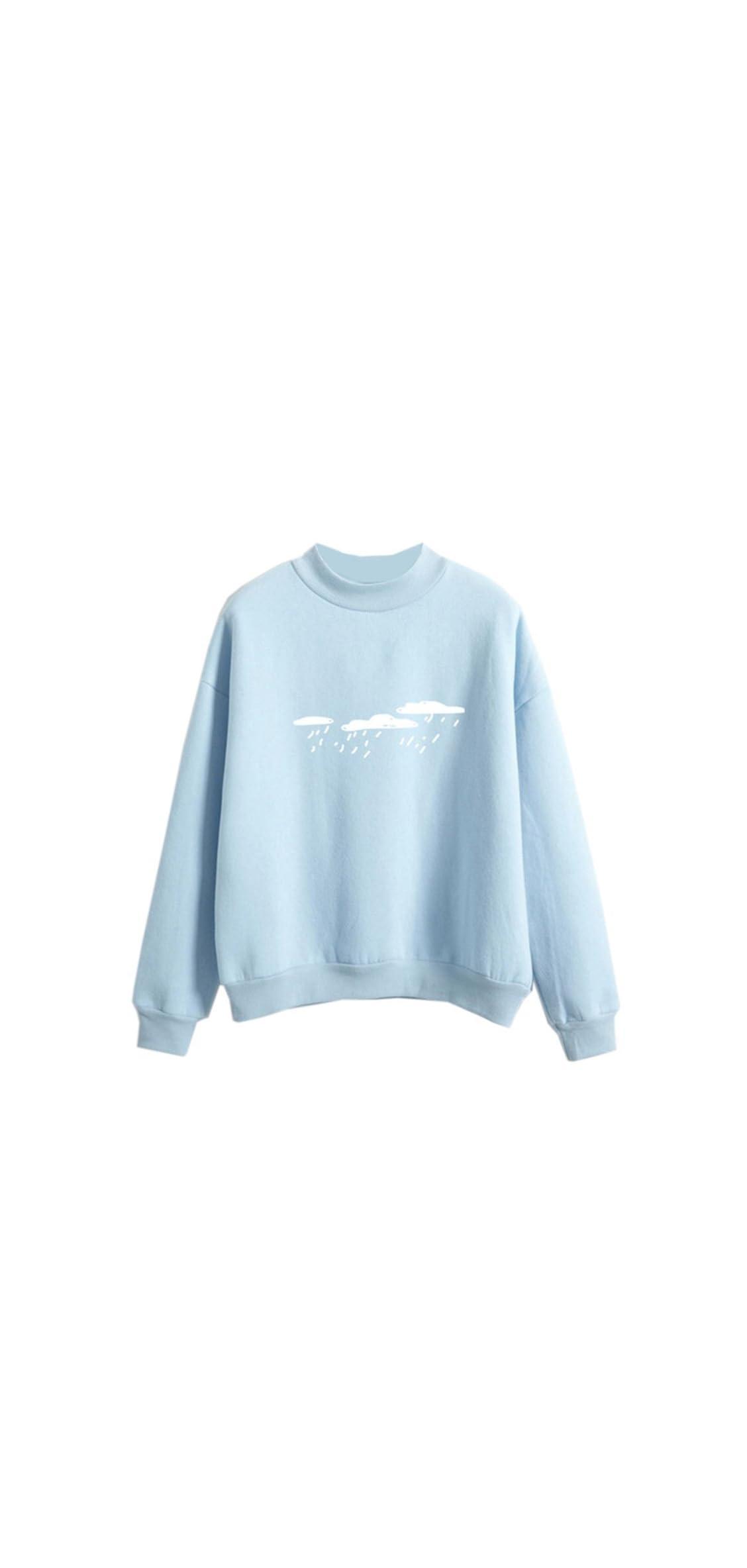 Harajuku Sweater Cool Hoodies For Teens Cloud Cute