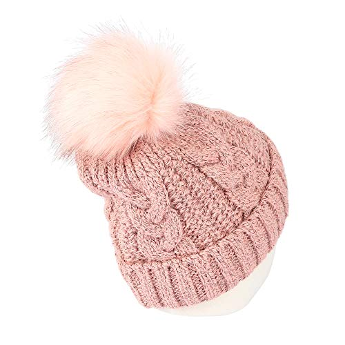 d2dc23b7c1b Jual WITHMOONS Fleece Twist Knit Pom Beanie Winter Hat Slouchy Cap ...