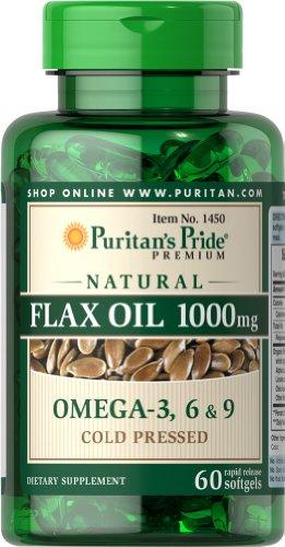 Pride Natural aceite de linaza 1000 mg-60 cápsulas de Puritan