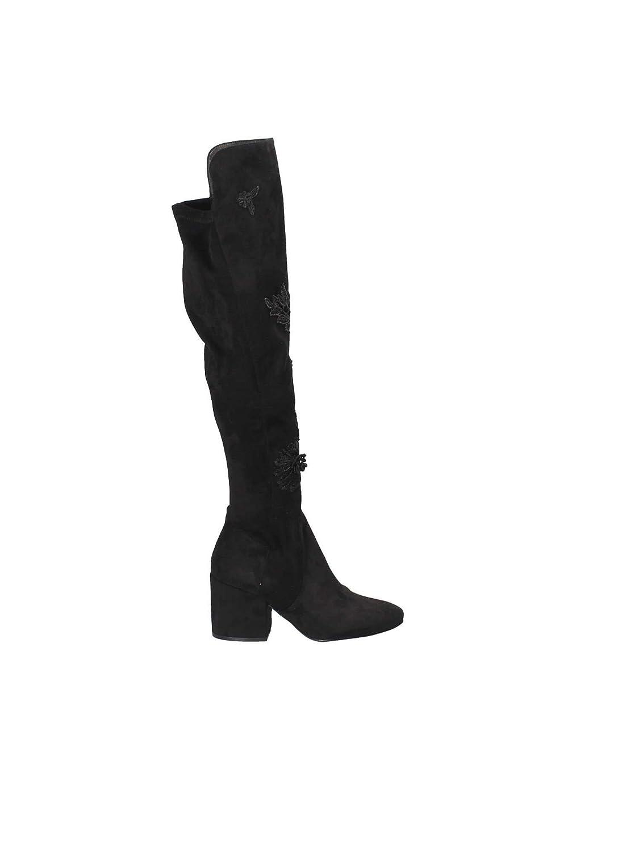Schuhe damen Stivale Cafeschwarz in camoscio schwarz JHB941-010