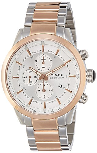 Timex E Class Chronograph Silver Dial Men #39;s Watch   TW000Y406
