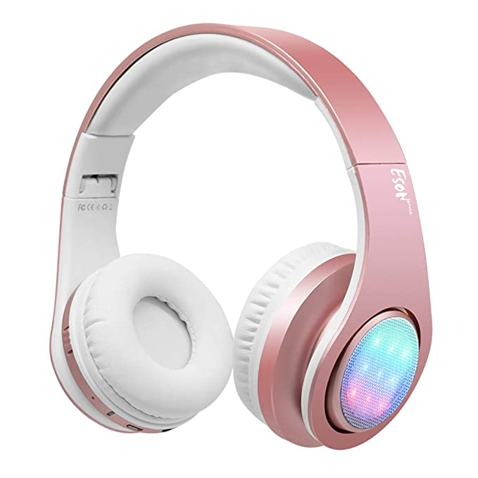 7035165deb9 Image Unavailable. Image not available for. Color: Esonstyle Gold Girls  Bluetooth Headset ...