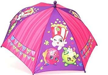 Shopkins Kids Umbrella Girls Parasol Paraguas - purple