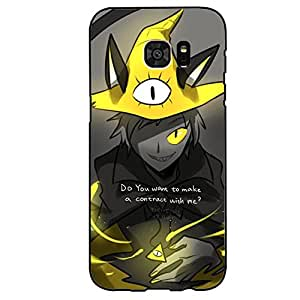 Personalized Custom Gravity Falls Phone Case Protective Hard Cover for Samsung Galaxy S7 Edge Gravity Falls Anime Cool Design