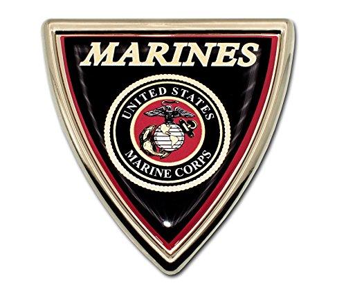 - Elektroplate Marines Shield Chrome Auto Emblem