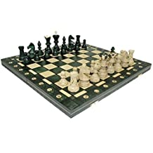 Ambassador Combination Chess Set - Green 21 inch x 21 Inch