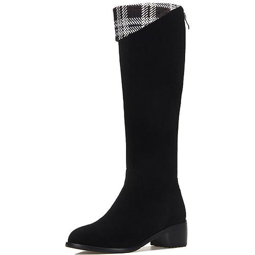Moda botas con cabeza redonda/ ocio con tubo de la estufa botas en/Más