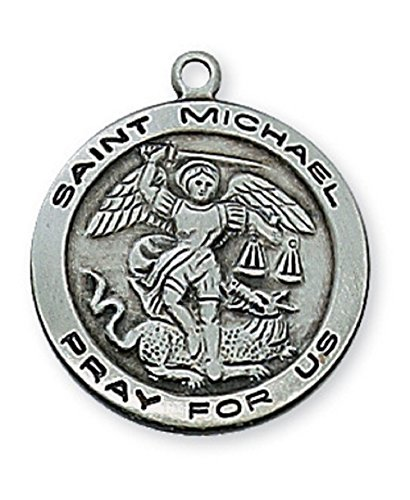 Adult Pewter Michael Medal Necklace product image