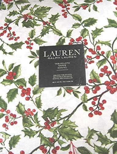 Ralph Laurenクリスマステーブルクロスホリーツリーパイン100%コットン60x 120