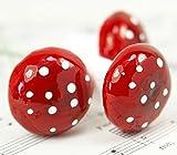 Meyer Imports Red - Over 1'' - Cotton Spun Mushrooms - Set of 10 - 6-703-3000 wonderful world of Mushrooms and Spun Cotton!