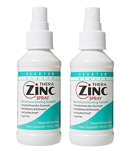 (Quantum Health, TheraZinc Spray, 4 Ounce (Pack of 2))
