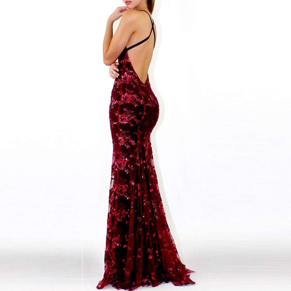dbc1f20af21796 Amazon.com   Sequined Cocktail Dresses for Women Evening Prom Gown ...