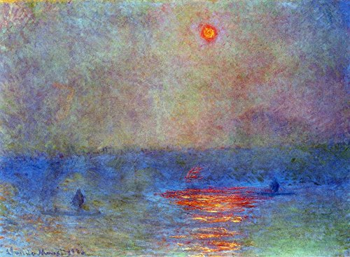 The Museum Outlet - Waterloo Bridge, the sun in the fog by Monet - Poster Print Online Buy (60 X 80 Inch) (Stores Outlets Waterloo)