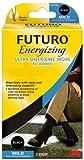 Futuro Energizing   Ultra Sheer Knee Highs for Women, Black, Medium (Pack of 2)