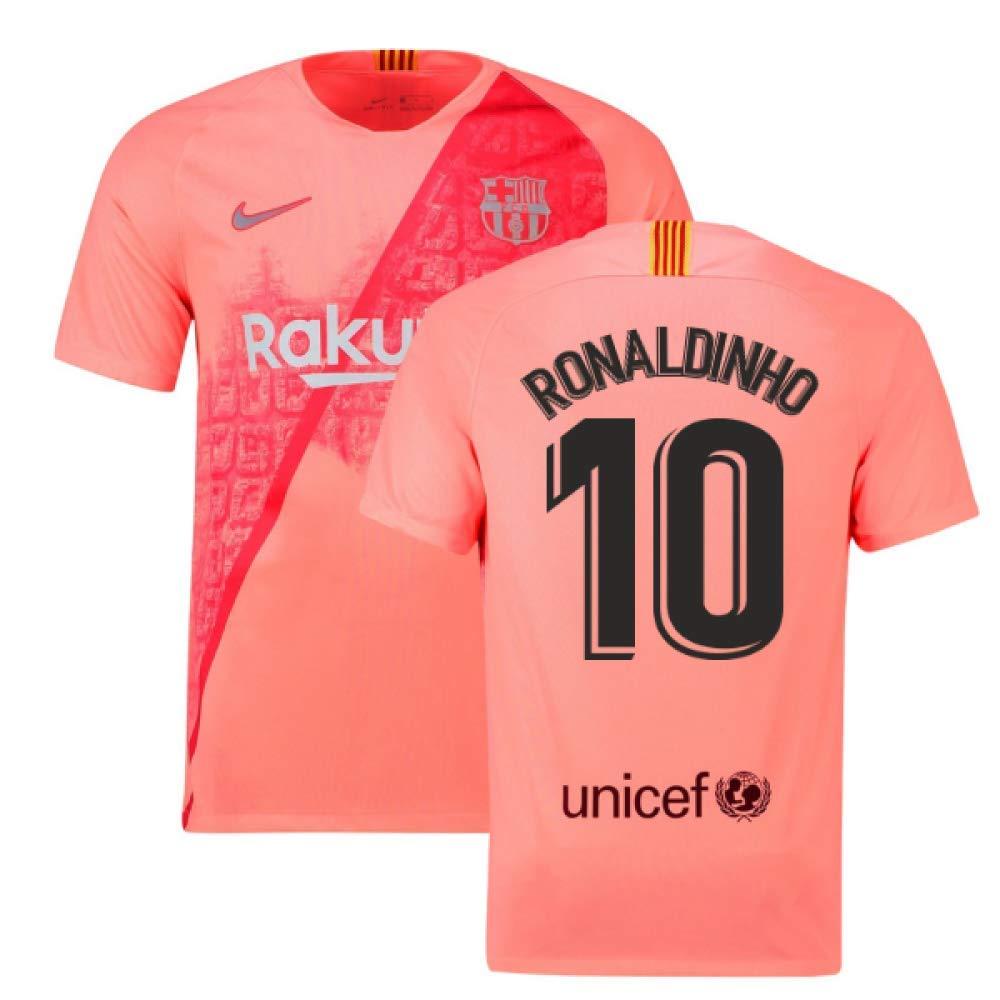 2018-2019 Barcelona Third Nike Football Soccer T-Shirt Trikot (Ronaldinho 10)