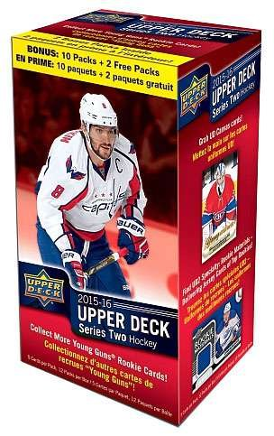 Pack Hockey Box - 2015 2016 Upper Deck NHL Hockey Series Two Factory Sealed Unopened Blaster Box of 12 Packs