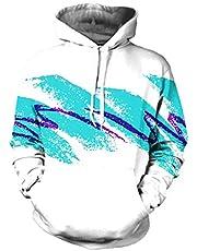 Pink QueenAnimal Printed Big Pockets Drawstring Hoodie Sweatshirt