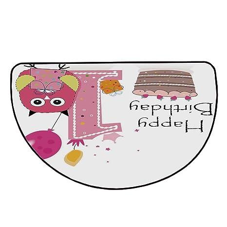 Fabulous Amazon Com 1St Birthday Decorations Comfortable Semicircle Mat Funny Birthday Cards Online Hendilapandamsfinfo