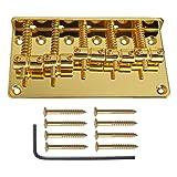 MonkeyJack 5-String Electric Bass Golden Saddle Bridge Screw for Bass String Instrument