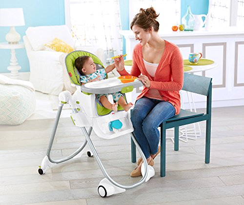 Fisher-Price 4-in-1 Total Clean High Chair, Green/Gray by Fisher-Price (Image #11)