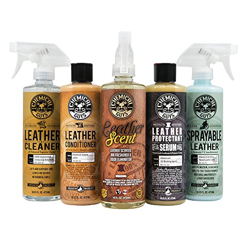 Chemical Guys HOL_113 Leather Lovers Kit (7 Items) (Best Smelling Leather Cleaner)