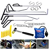 Fly5D 20 Pcs Kits Paintless Dent Repair Removal Puller Pdr Tools Push Rods Spring Steel Tail Set Air Wedge Tapdown