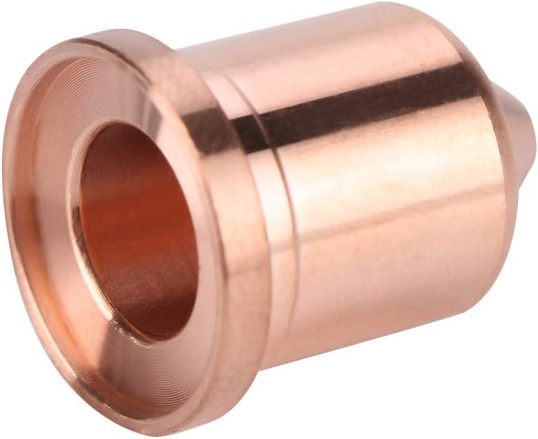 5 piezas 45A Puntas de boquilla de corte por plasma 220941 Apto para MAX65 Consumible de antorcha de corte por plasma Boquilla de corte por plasma corte de acero al carbono aluminio cobre