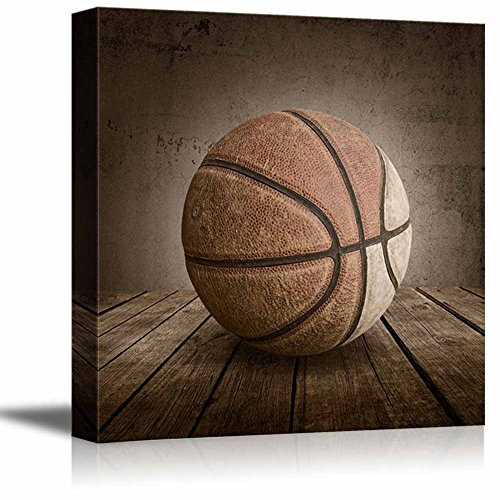 wall26 - Swish! Basketball Rustic Square Sport Panel - Celebrating American Sports Traditions - Canvas Art Home Decor - 12x12 inches]()