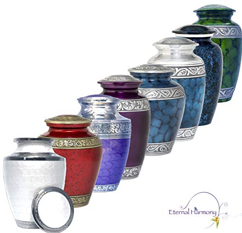 Eternal Harmony Cremation Urn for Human Ashes | Funeral Urn Carefully Handcrafted with Elegant Finishes to Honor and Remember Your Loved One | Adult Urn Large Size with Beautiful Velvet Bag by Eternal Harmony (Image #7)