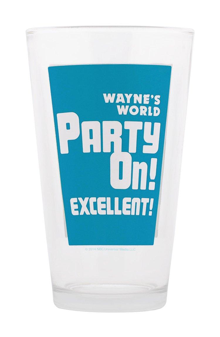 Saturday Night Live Waynes World Pint Glass 16-Ounce