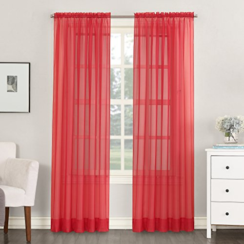 Voile Single Curtain Panel, 59